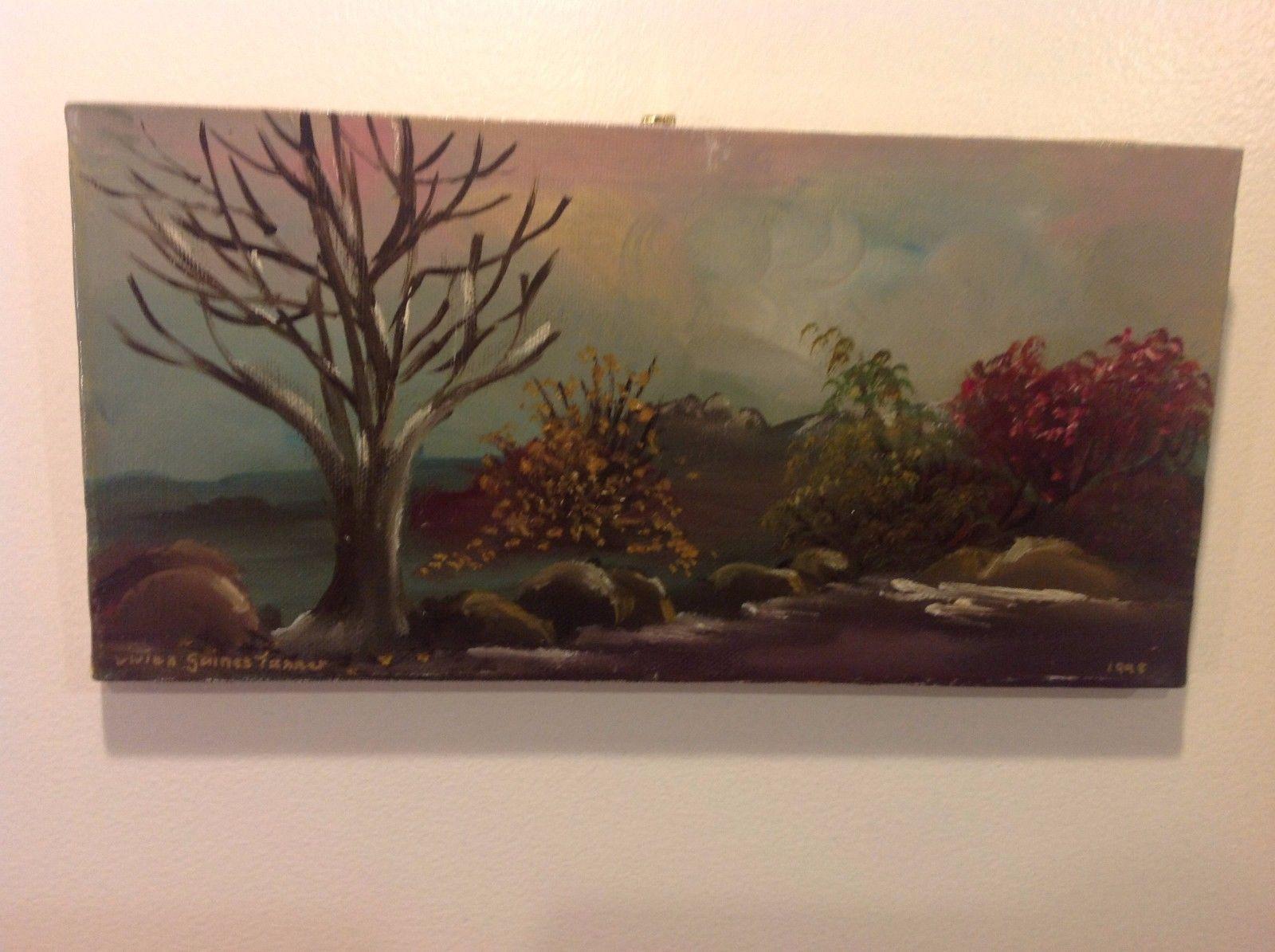 Painting Original Nature Tree Vivian Gaines Tanner Hudson Valley artist