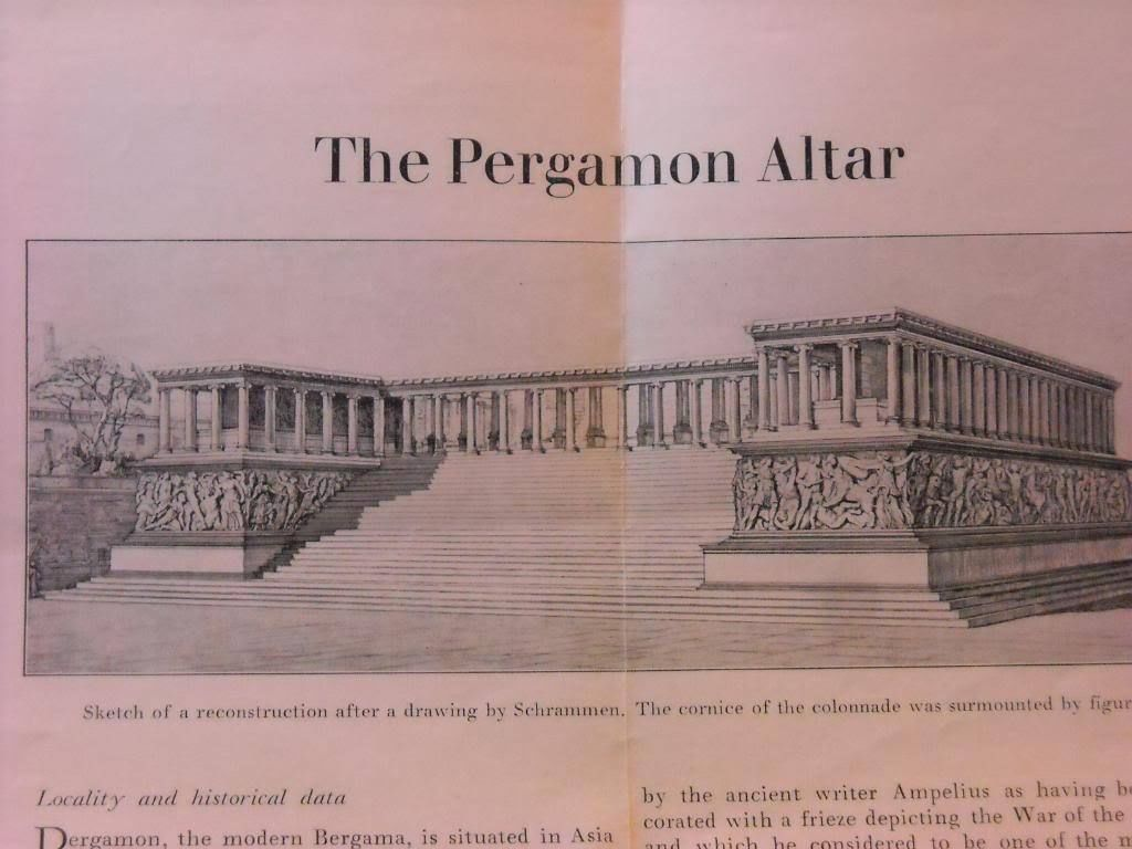 Pamphlet of Pergamon altar history greek roman friezes