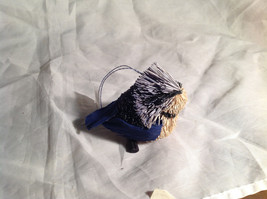 Palm Fiber Perched Bluebird Brush Animal Eco Fiber Sustainable Ornament