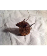 Palm Fiber Seated Mouse Brush Animal Eco Fiber Sustainable Ornament - $39.99