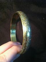 Lightweight Sparkly Brass Bracelet Under Shiny Enamel  image 2