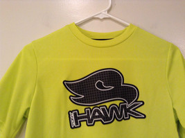 Lime Yellow Short Sleeve 100 Percent Polyester Shirt Hawk Size L 14 to 16 image 3