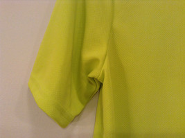 Lime Yellow Short Sleeve 100 Percent Polyester Shirt Hawk Size L 14 to 16 image 7