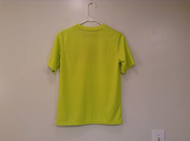 Lime Yellow Short Sleeve 100 Percent Polyester Shirt Hawk Size L 14 to 16 image 2