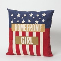 Patriotic Pillow Red White and Blue Homefront Girl