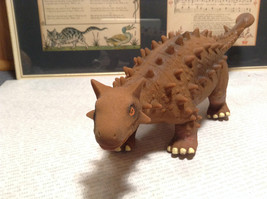 Ankylosaurus Geo Central Brown Rubber Toy Dinosaur New with Tag image 2
