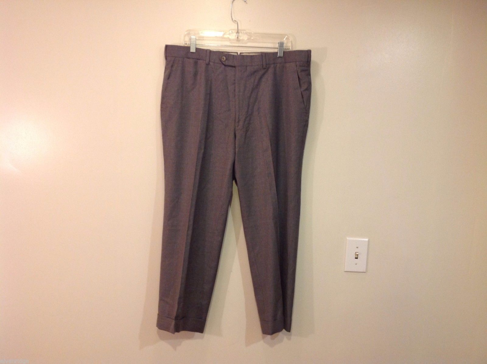 Paul Stuart Gray Dress Pants 38 inch length