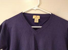Limited America Short Sleeve Blue Violet V Neck Top Size Medium image 3