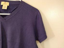 Limited America Short Sleeve Blue Violet V Neck Top Size Medium image 4