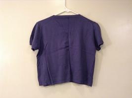 Limited America Short Sleeve Blue Violet V Neck Top Size Medium image 2