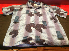 Pennys Hawaii Mens Short Sleeve Casual Shirt with Graphics Size 23 Inch W