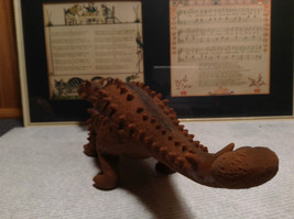 Ankylosaurus Geo Central Brown Rubber Toy Dinosaur New with Tag image 5