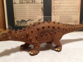 Ankylosaurus Geo Central Brown Rubber Toy Dinosaur New with Tag image 3