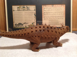 Ankylosaurus Geo Central Brown Rubber Toy Dinosaur New with Tag image 6