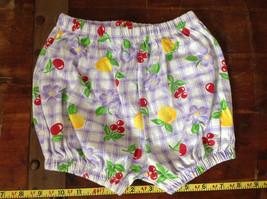 Purple Plaid Fruit Patterned Infant Shorts Cherries Oranges Size 24 Months