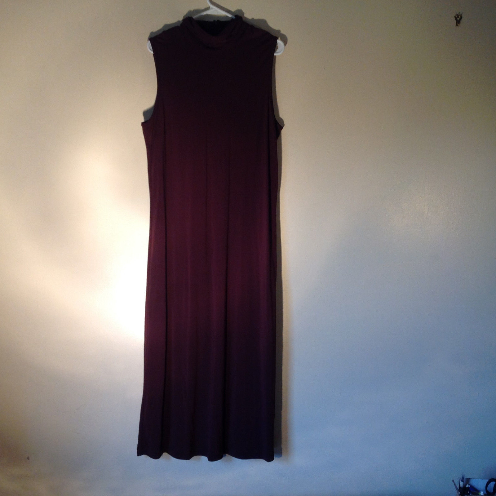 Purple Sleeveless Turtleneck Long Formal Dress By J Jill Size XL Petite
