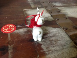 Little white ceramic reindeer lying down knit scarf color choice dept 56 New image 5