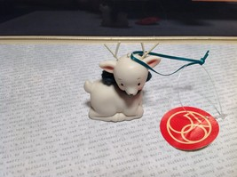 Little white ceramic reindeer lying down knit scarf color choice dept 56 New image 9