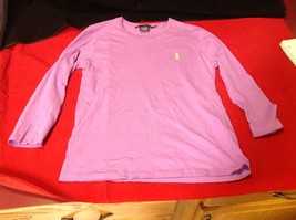 Ralph Lauren Sport Purple Long Sleeve Girls Shirt Size Medium