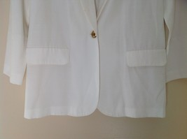 Liz Baker Womens white single button up blazer Size 10 image 3