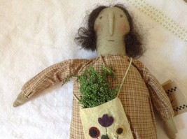 Live Simply Doll with Sack Primitives by Kathy Polyester Fiber image 2