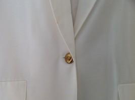Liz Baker Womens white single button up blazer Size 10 image 5