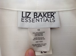 Liz Baker Womens white single button up blazer Size 10 image 7