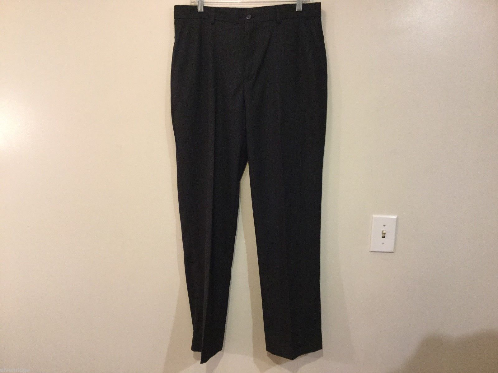 Perry Ellis Mens Black Dress Pants, Size 33/32