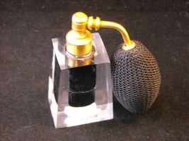Perfume Atomizer with Clear Glass and Black Reservoir