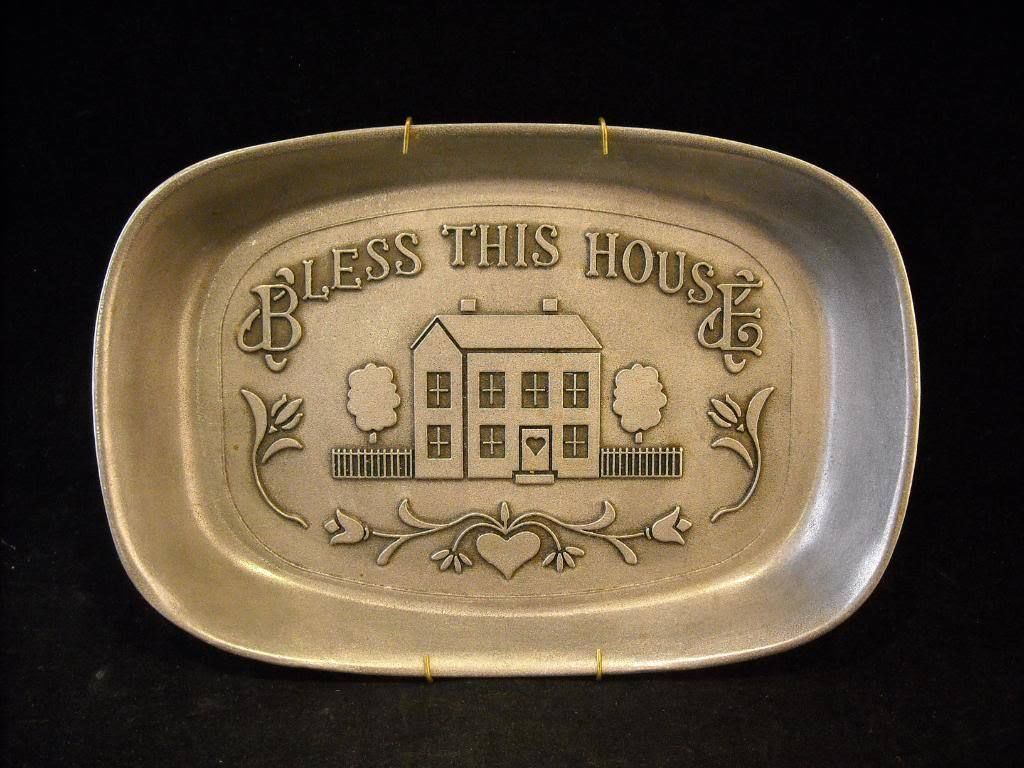 Pewter Tray Country Ware Armetale PA Bless This House