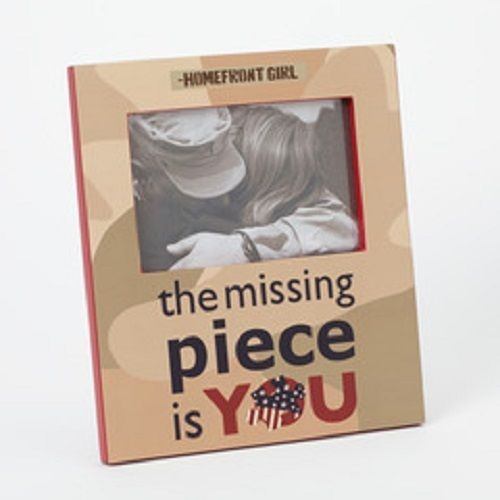 Photo frame Homefront Girl The Missing Piece is You Patriotic
