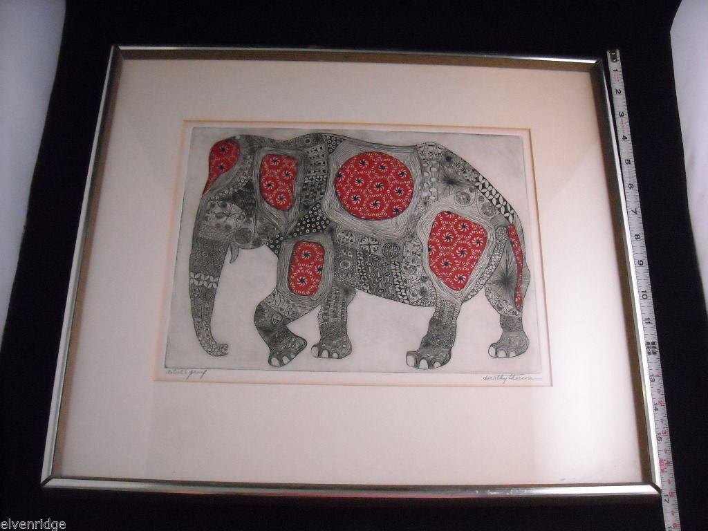 Picture of Elephant With Indian Style Pattern