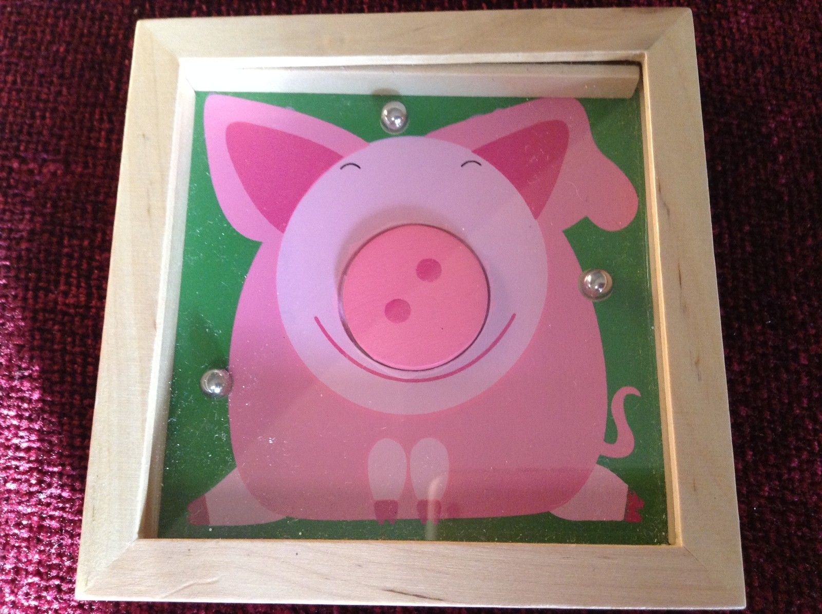 Pig Tip and Tilter Ball Puzzle Collectably Cute Animal Games House of Marbles