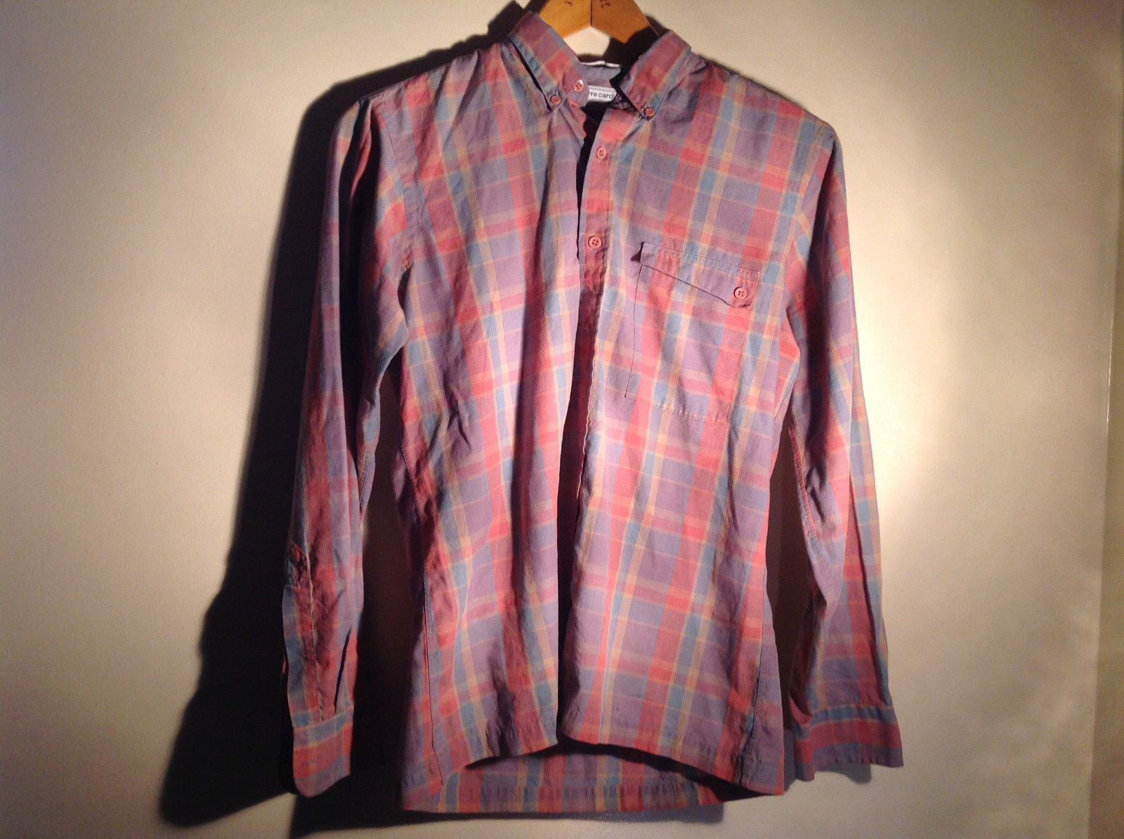 Pierre Cardin Multicolored Button Up Long Sleeve Collared Shirt Size Medium