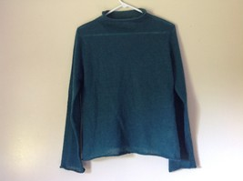 Pierre Cardin Options Teal Long Sleeve Sweater Turtleneck Size Medium