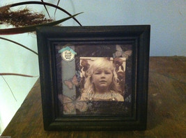 "Picture Frame with ""find your way"" charm and butterflies - 2 1/2"" x 2 1/2"""