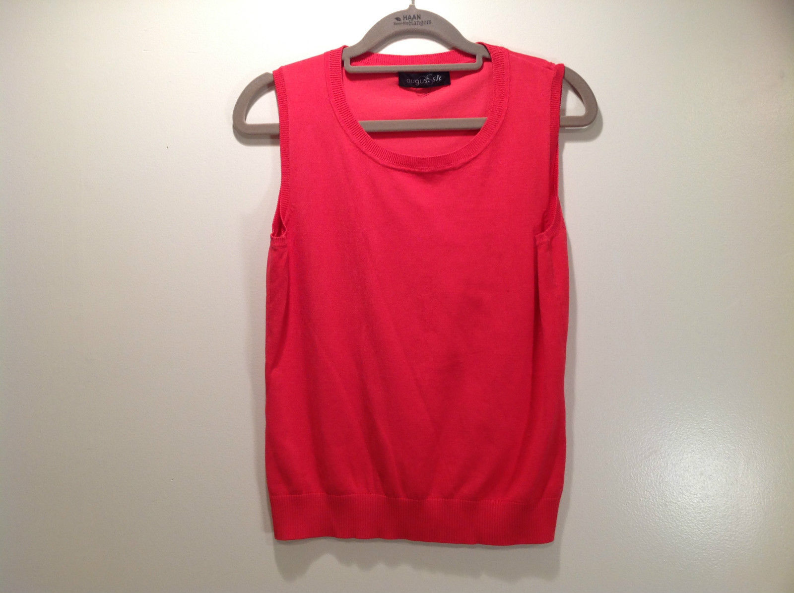 Pink August Silk Stretchy Tank Top Excellent Condition Information Tag Removed