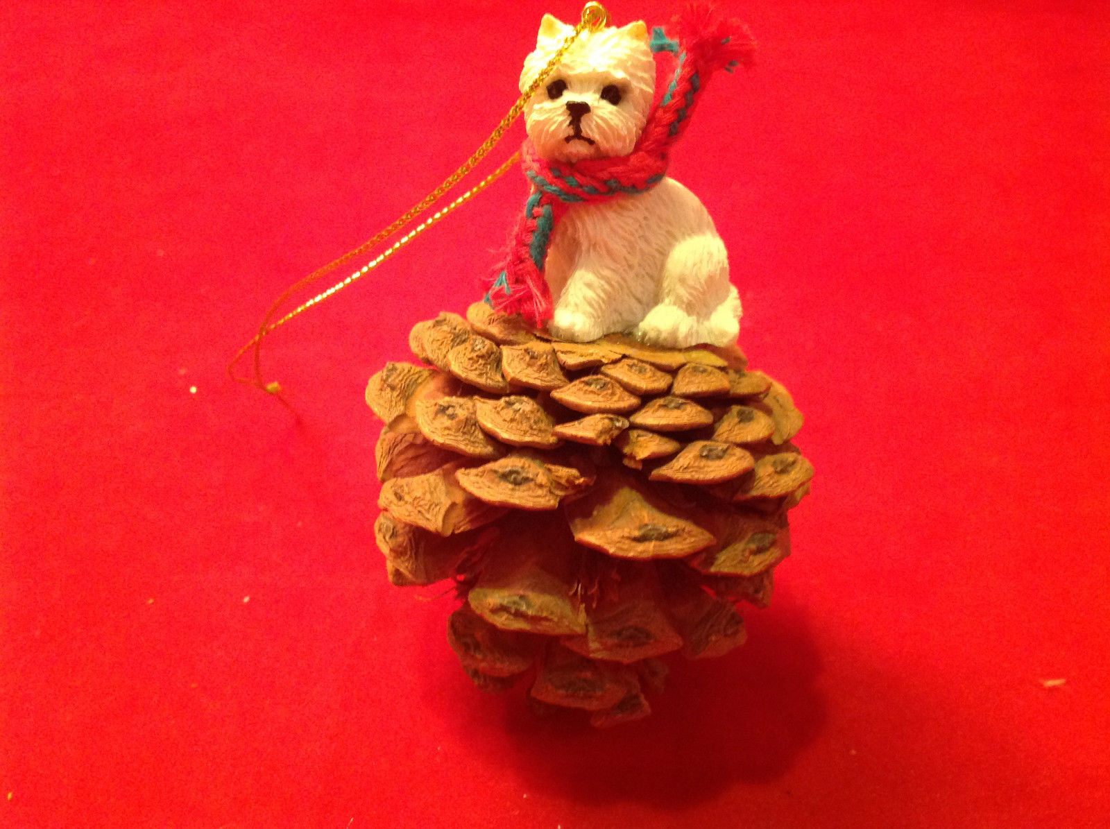Pine Cone Pet Ornament Westie Pine Cone Pet New in Original Package