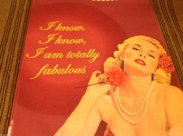 Pink I know I'm totally Fabulous Cotton silk screen kitchen Towel