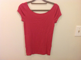 Ann Taylor 100% Cotton Crew Neck Pink Short sleeve Blouse Top, Size S image 2