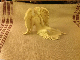 Angel Figurine  peacefully reclining with resting wings tabletop new in box image 2