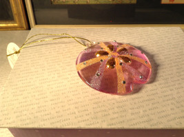 Pink and Orange Glass Sand Dollar Ornament by Holiday Tree Decoration