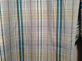 Liz Golf Audra Size 16 Light Blue Green Plaid Casual Pants image 2