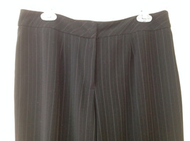 Norton McNaughton Petites Black Pinstriped Dress Pants Size 16P image 2