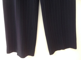 Norton McNaughton Petites Black Pinstriped Dress Pants Size 16P image 3