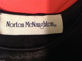 Norton McNaughton Black Sleeveless Silk like Blouse Tank Top, NO Size tag image 5
