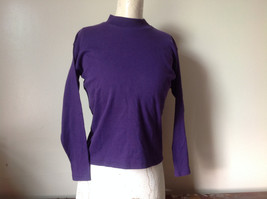 Plain Purple Long Sleeve Cotton Shirt See Measurements Below