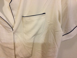 Notations Off-White Polyester Short Sleeve Blouse Buttons Up Shirt, Size 10P image 2