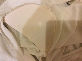 Notations Off-White Polyester Short Sleeve Blouse Buttons Up Shirt, Size 10P image 6