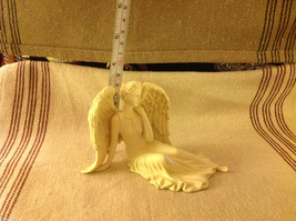 Angel Figurine  peacefully reclining with resting wings tabletop new in box image 4